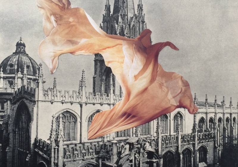 Building and gown collage by Anna Bu Kliewer