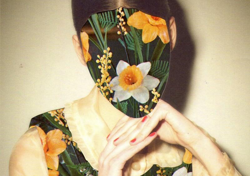 Female portrait with flowers by Anna Bu Kliewer
