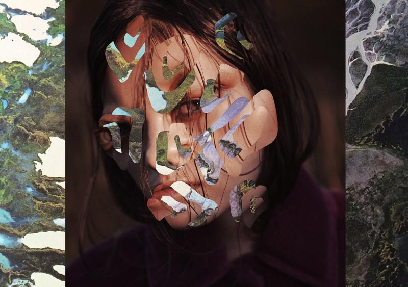 Female portrait with facial cutouts by Anna Bu Kliewer