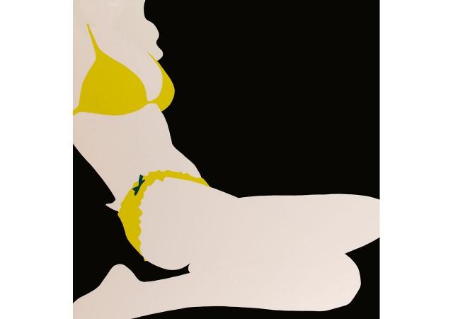 Yellow Bikini on Black