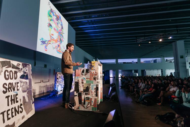 Steven Wilson speaking at OFFF Festival Barcelona
