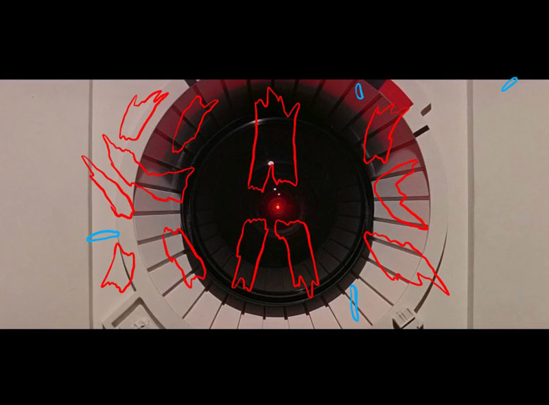 A still from Danny Sangra's animation of 2001: A Space Odyssey