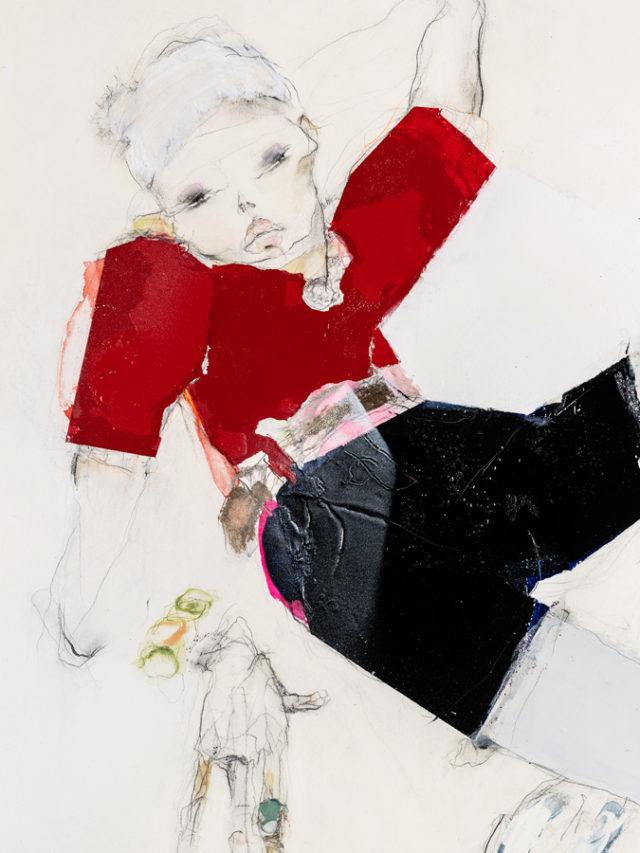 Phillippa Mills illustrations feature Chanel and Giambattista Valli