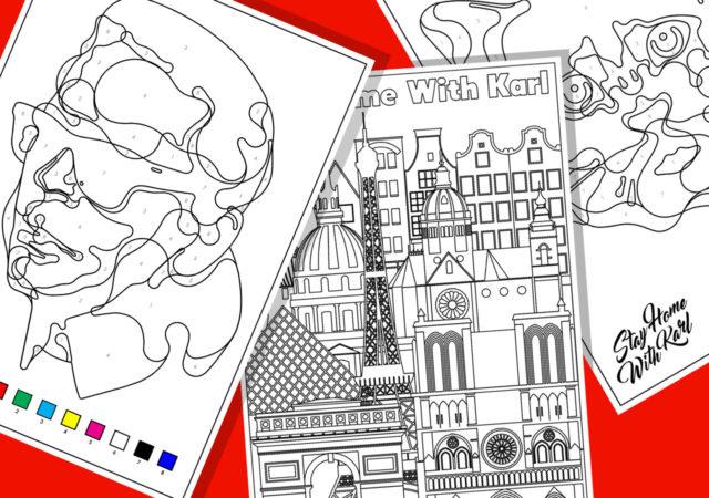 New initiative with illustrator Steven Wilson & the Karl Lagerfeld team